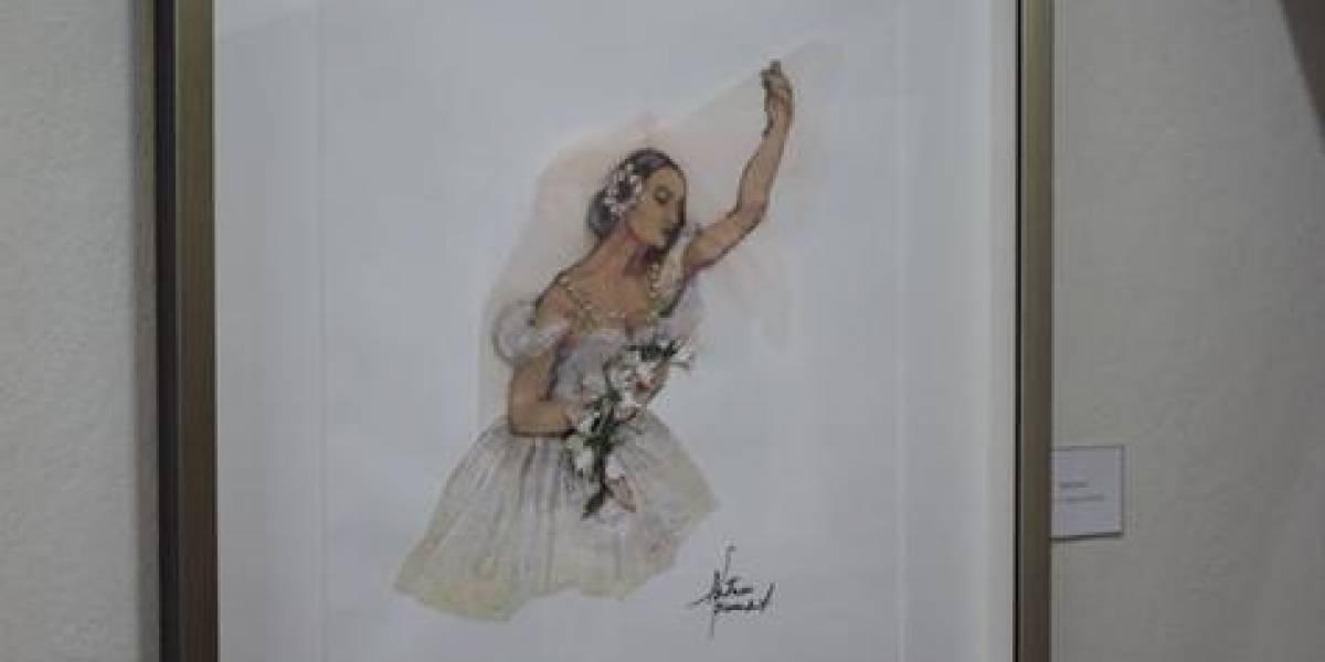 Ilustraciones de Patricia Ascuasiati en el Conservatorio de Danzas Alina Abreu