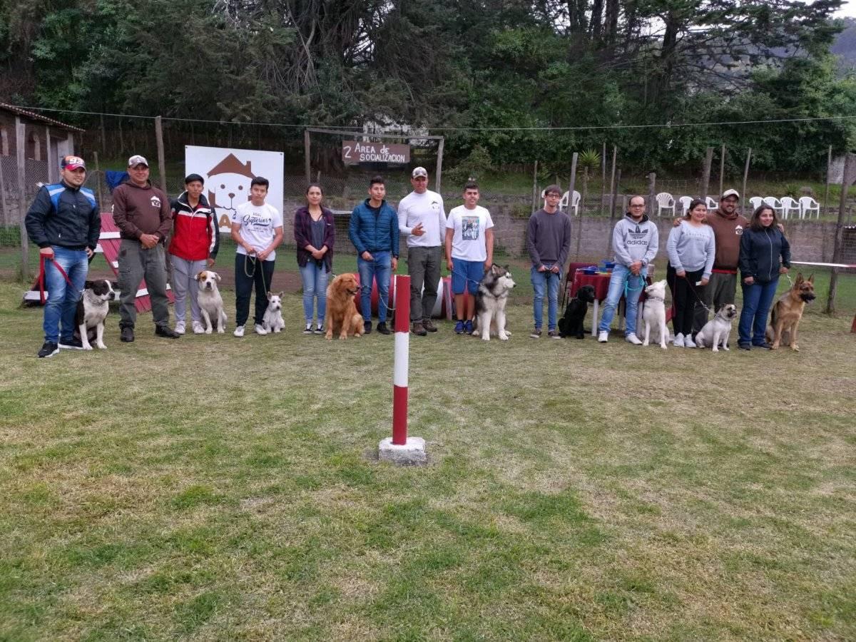Promoción de perritos graduados en la Aldea