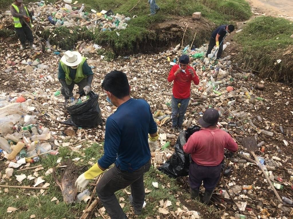 Limpieza de río en Totonicapán