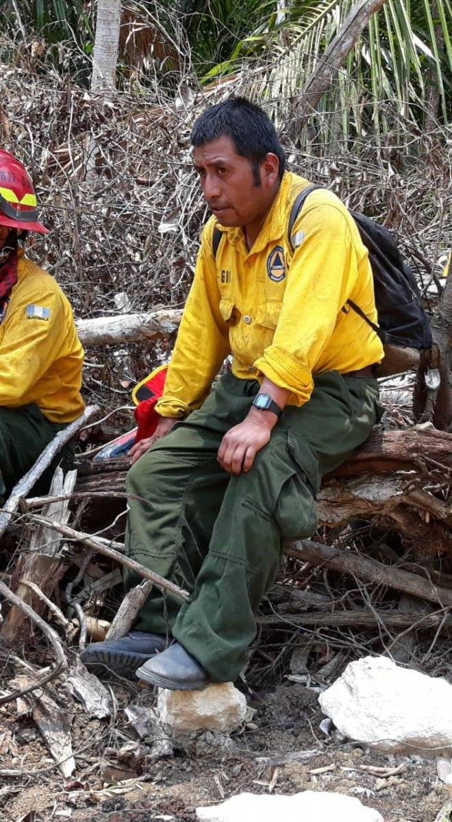 Vicente Julajuj, bombero fallecido en incendio en Petén