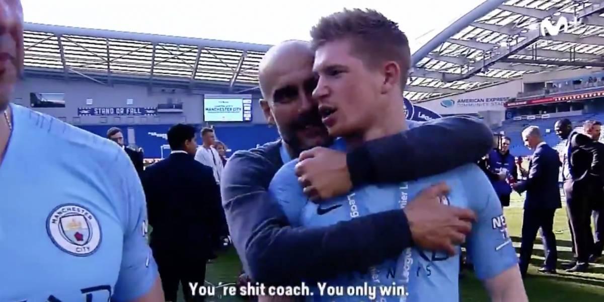 """El """"elogio"""" que le dedicó De Bruyne a Guardiola: """"Eres una mierda de entrenador, solo ganas"""""""