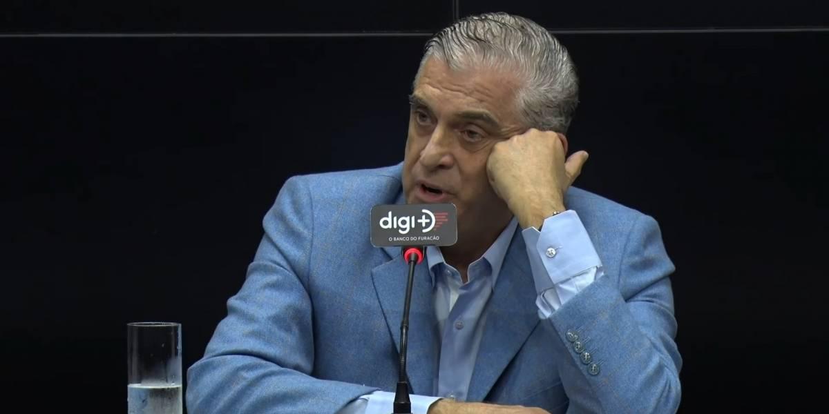 Presidente de conselho do Athletico Paranaense manda jornalista se calar em entrevista coletiva
