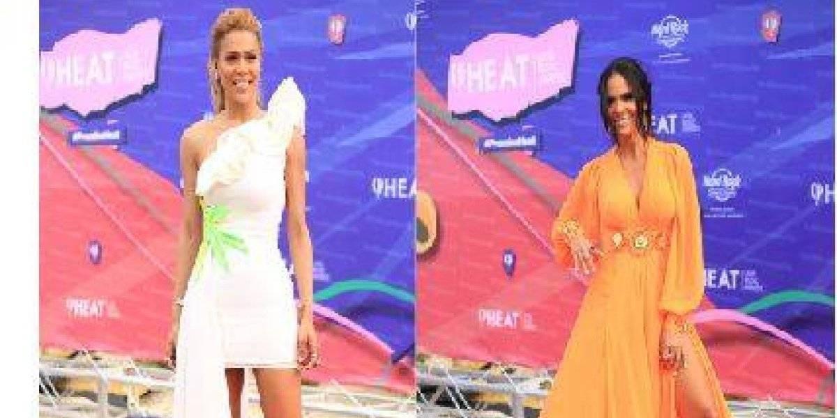 Mariela Encarnación y Caroline Aquino, dos conductoras dominicanas en Premios Heat