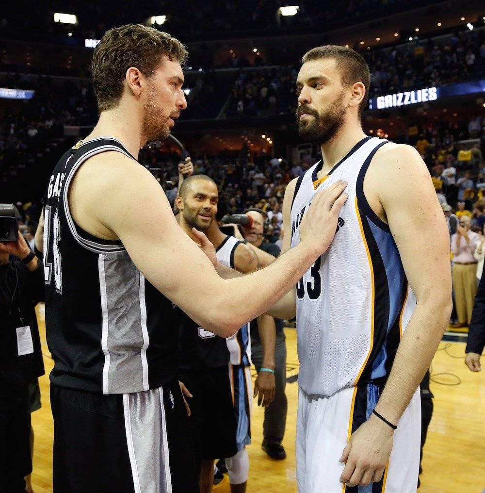 No podían faltar los tremendos hermanos españoles Pau y Marc Gasol. / Getty Images