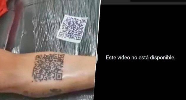 Un romántico: Chileno se tatúa un código QR con una canción de Chayanne