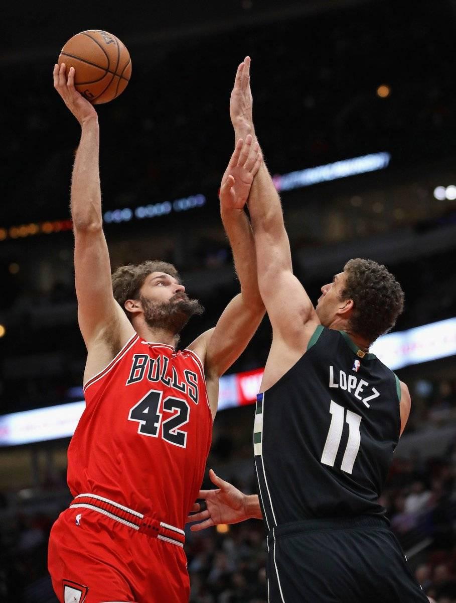 Robin y Brook López también están en la NBA. / Getty Images