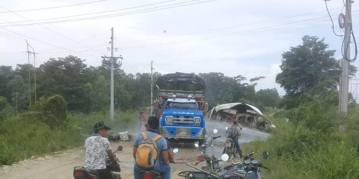 Dos muertos y varios heridos por atentado a una caravana judicial en Tibú