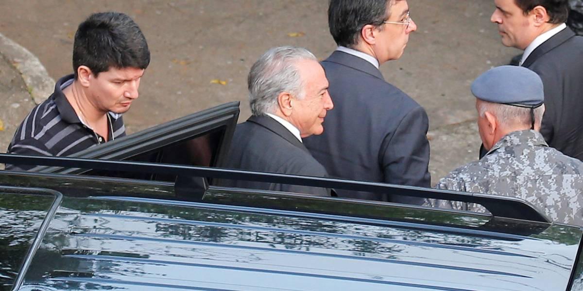 Michel Temer aguarda alvará de soltura para deixar batalhão da PM em São Paulo