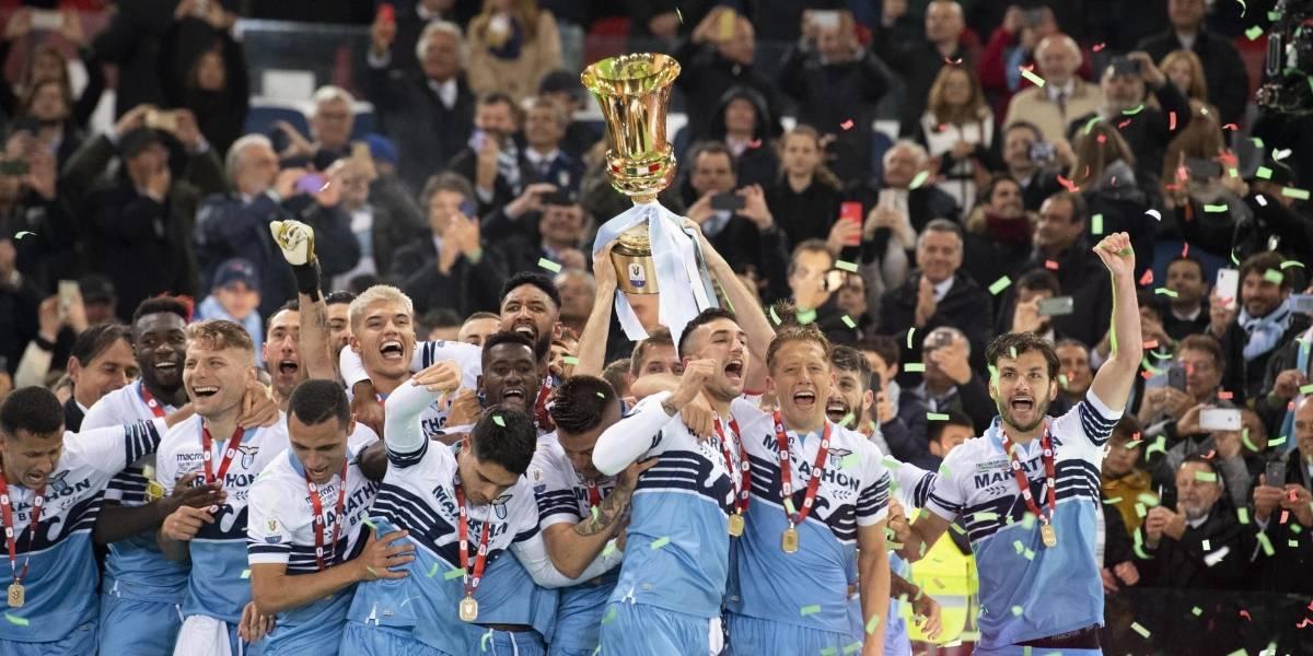 Lazio se consagró campeón de la Copa Italia y así festejó María García, esposa de Felipe Caicedo