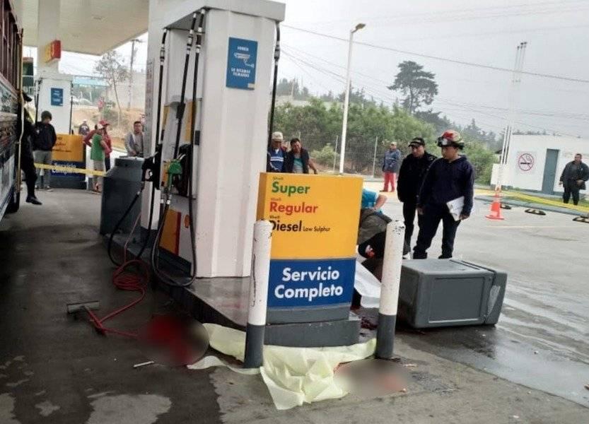 ayudante de bus fallecido en gasolinera en ruta Interamericana