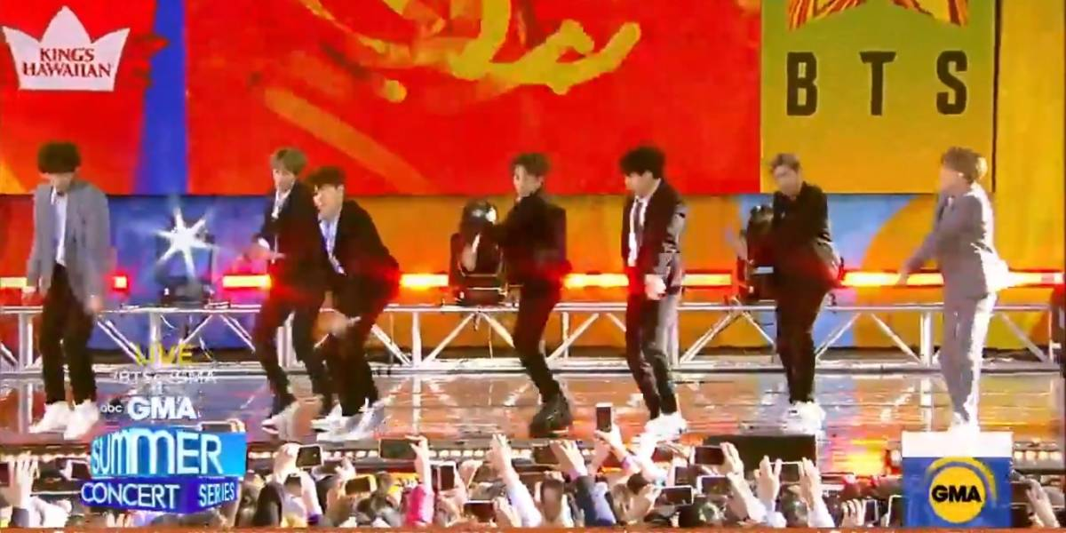 Grupo BTS conquista Central Park no 'Good Morning America'