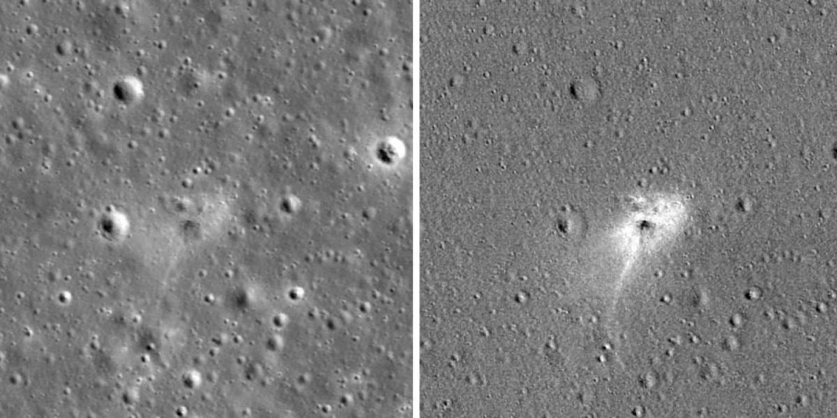 NASA revela impacto causado por espaçonave israelense na superfície Lunar