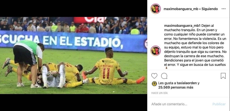 Máximo Banguera habló sobre el incidente que tuvo con el pasabolas en el Clásico del Astillero