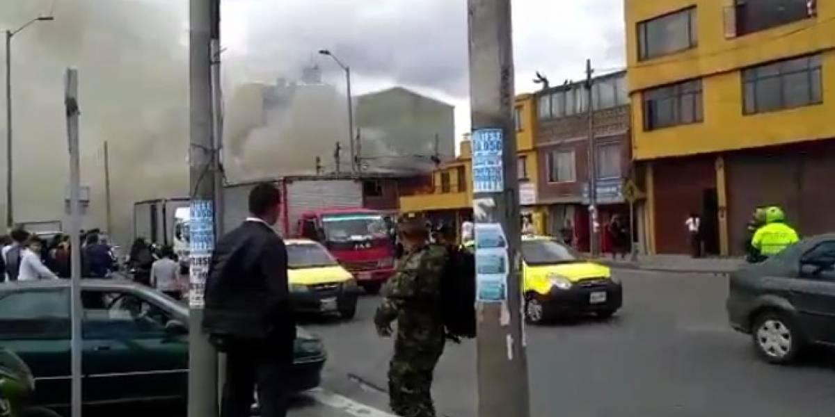 Incendio en Fontibón consume una vivienda y causa monumental trancón