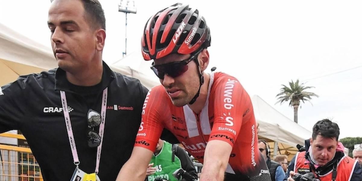 La impresionante foto que muestra cómo quedó la rodilla de Dumoulin y que lo hizo abandonar el Giro de Italia