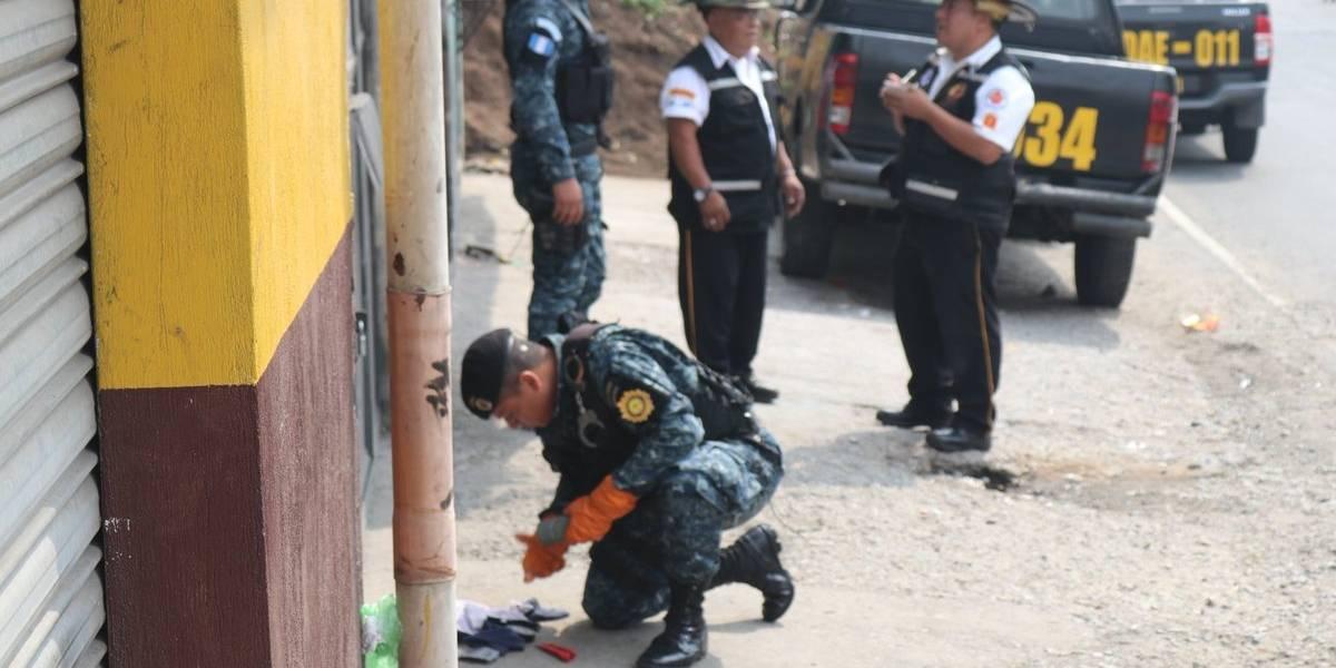 Localizan artefacto explosivo en predio de buses en Mixco
