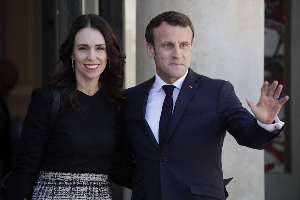 Jacinda Ardern y Emmanuel Macron