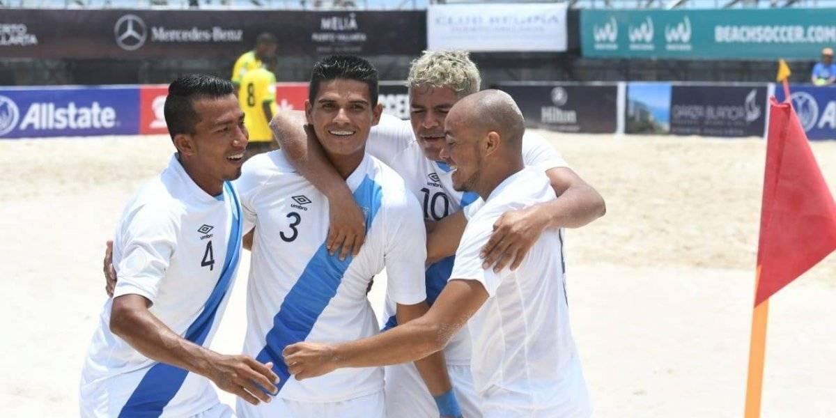 Futbol playa: Guatemala avanza a cuartos de final junto a México