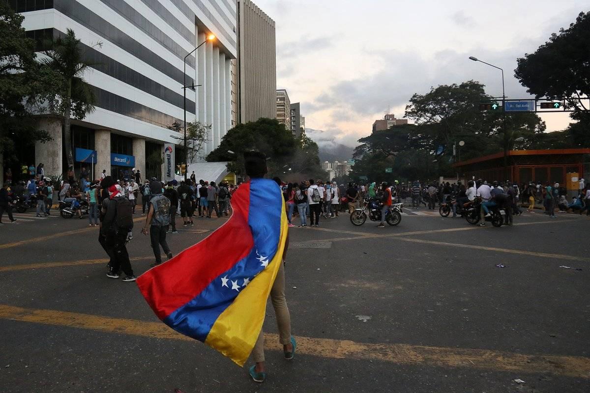 Manifestante contra Nicolás Maduro en las calles de Caracas Foto: Getty Images