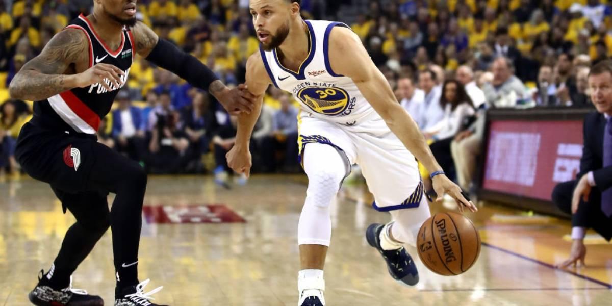 NBA: Golden State aplastó a Portland en el primer partido de la final de la Conferencia Oeste