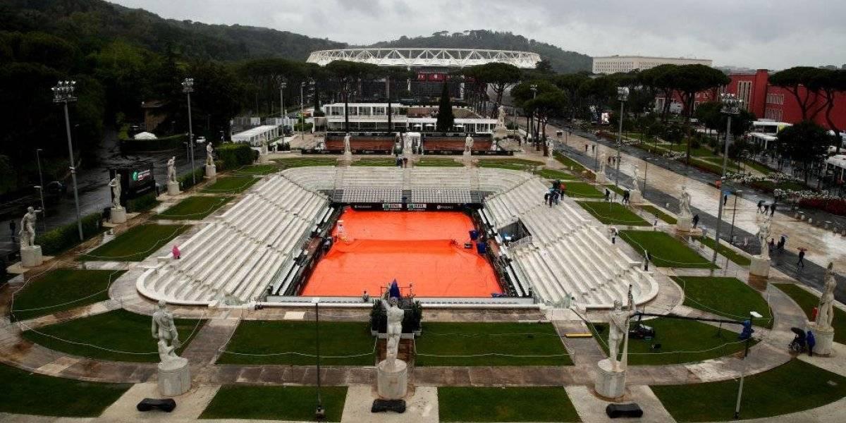 La lluvia complica al Masters 1000 de Roma