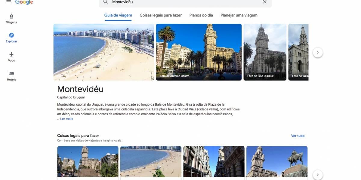 Google Travel une ferramentas do buscador para facilitar planejamento de viagens