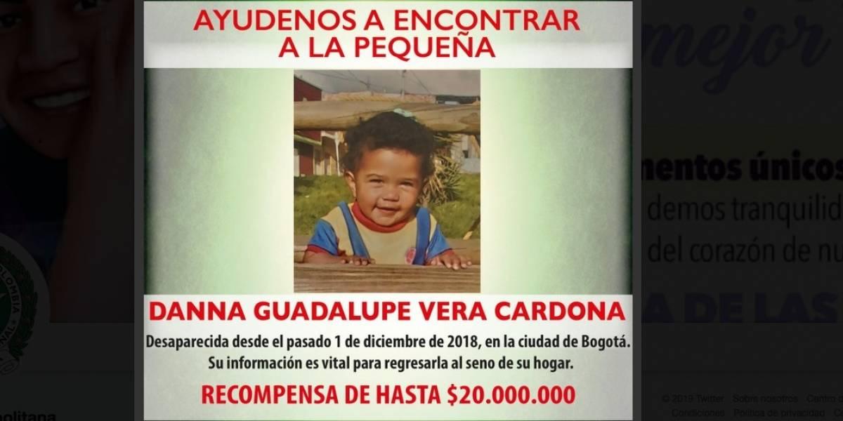 Ofrecen recompensa por información de bebé desaparecida Bogotá