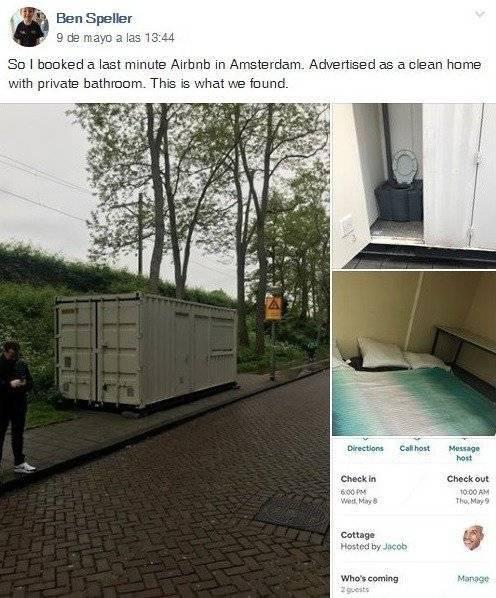 Arrendó casa por Airbnb yllegó a un contenedor en medio de la carretera