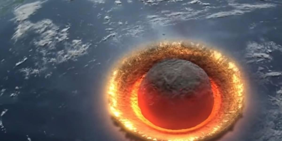 Video:así sería el devastador impacto de un asteroide de 500 kilómetros en la Tierra