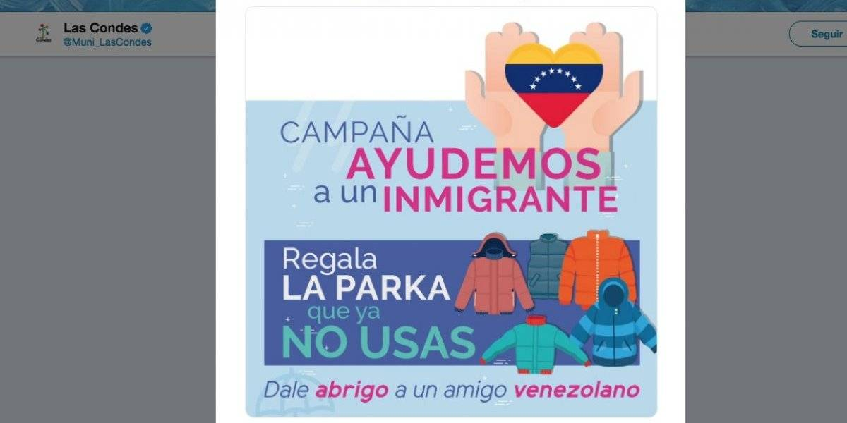 """""""Donación con apellido"""": cuestionan campaña solidaria de Las Condes por ayudar sólo a inmigrantes venezolanos"""