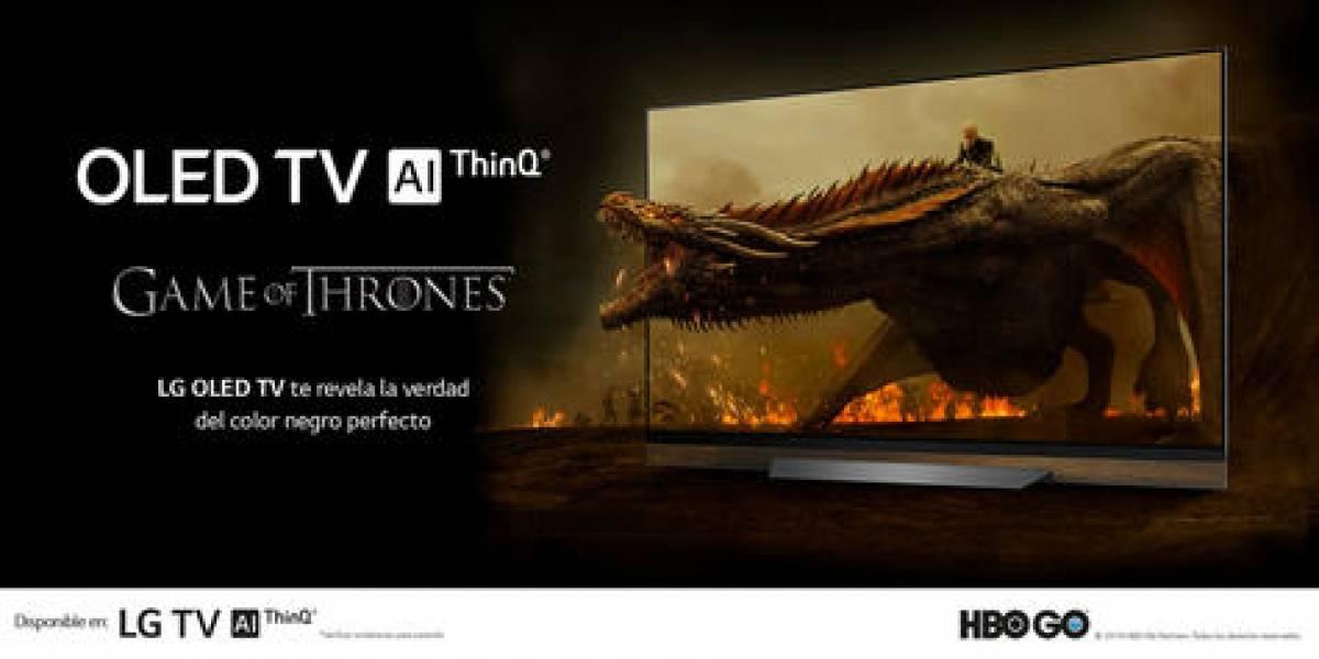 Aplicación digital de entretenimiento HBO GO en la pantalla chica
