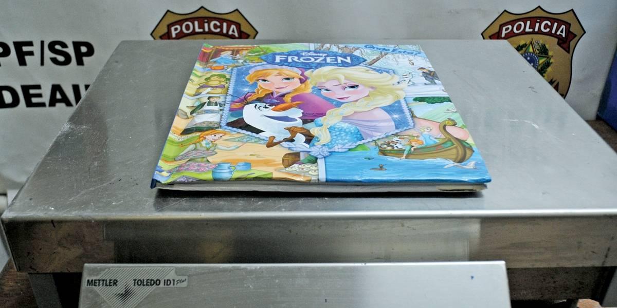 PF flagra cocaína em livro infantil em Cumbica
