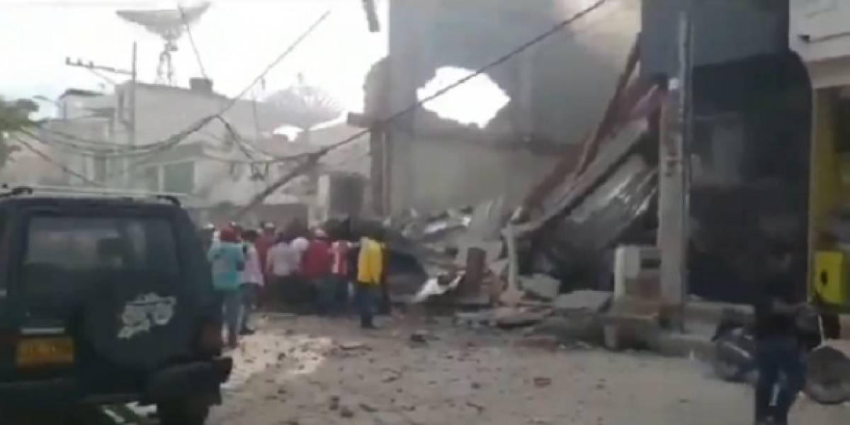 Emergencia en Fundación, Magdalena, por un edificio que se derrumbó