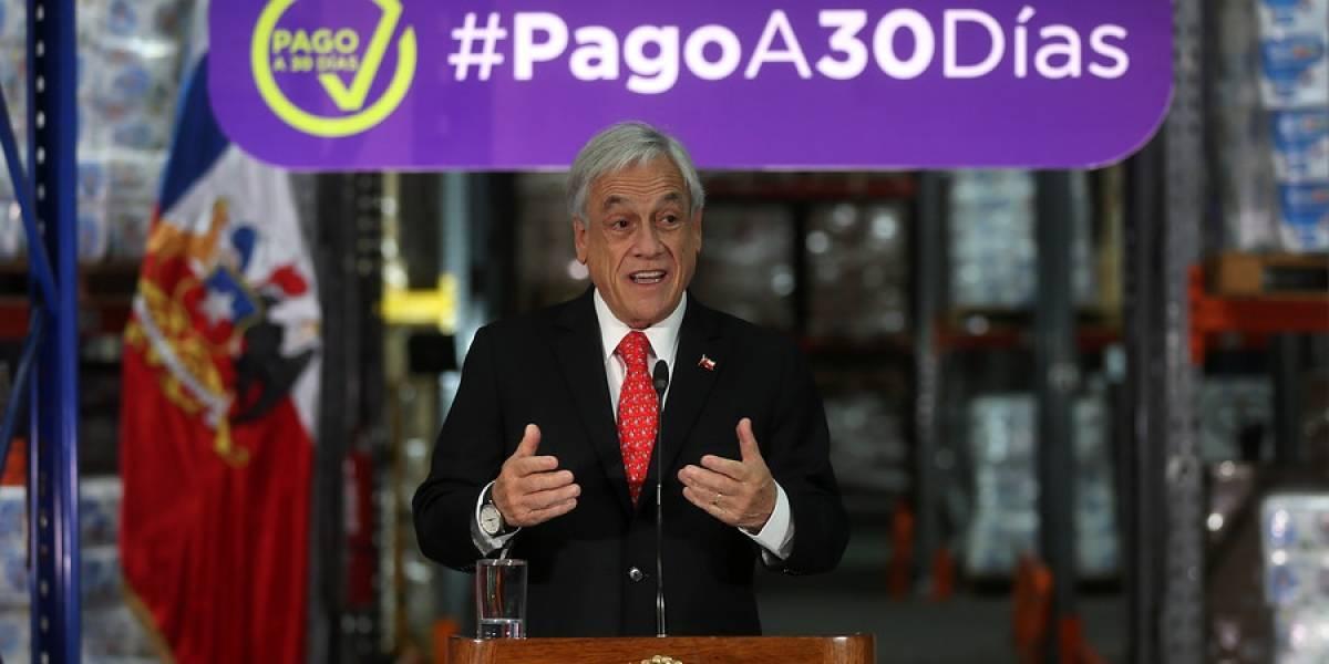 "Presidente Piñera manda recado a empresarios por vigencia de Ley de Pago a 30 Días: ""Una recomendación, no se equivoquen"""