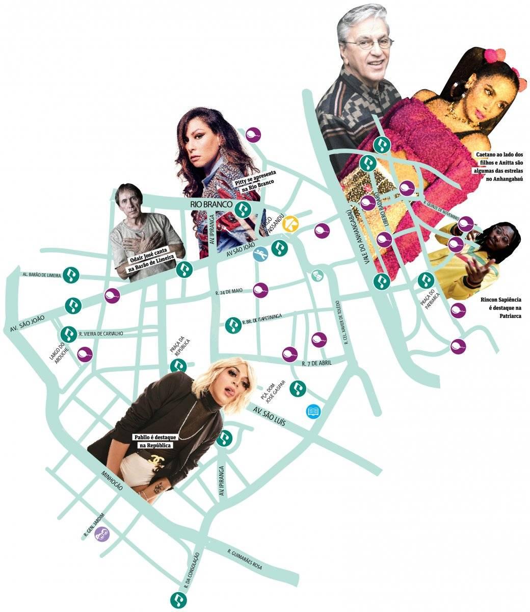 mapa virada cultural