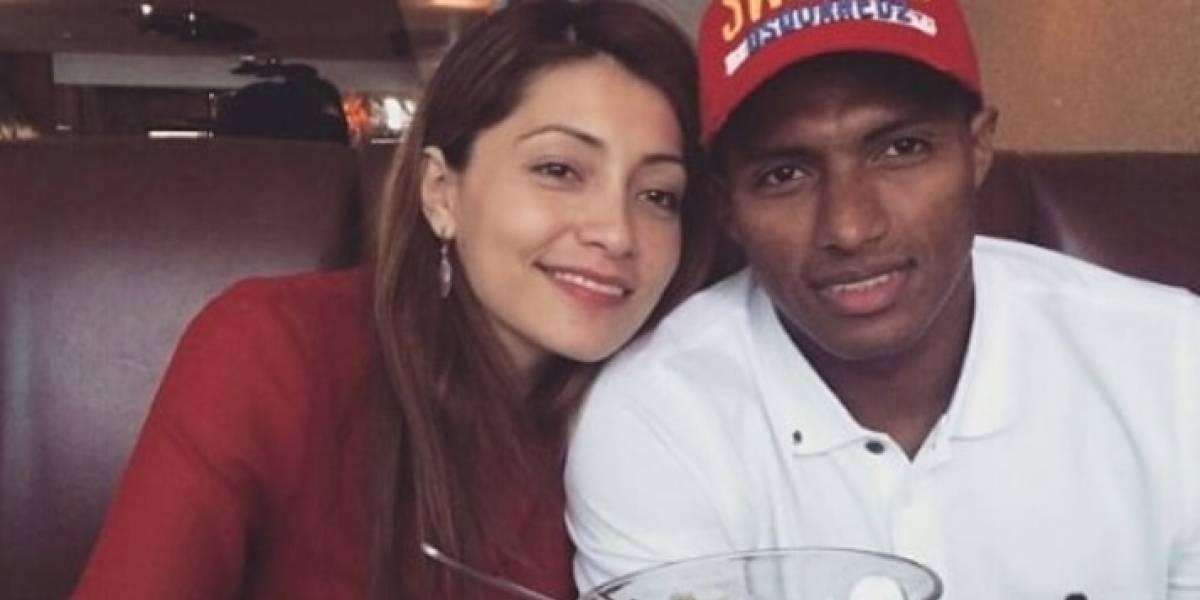 Antonio Valencia se casó con Zoila Meneses, la madre de su hija