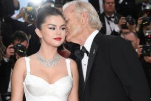 Selena Gomez y Bill Murray en Cannes