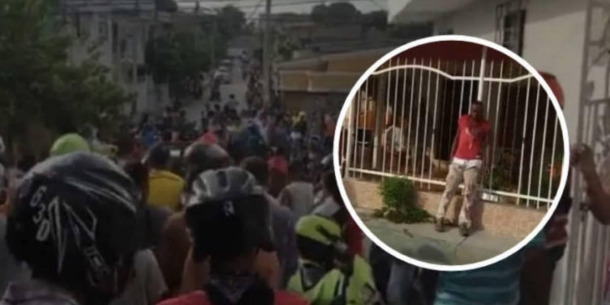 (Video) Supuesto fletero murió a manos de la comunidad en Cartagena