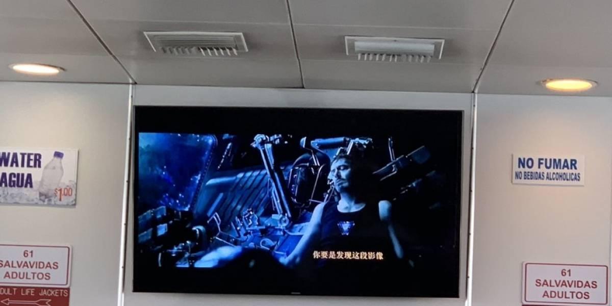 "Proyectan ""Avengers: Endgame"" pirateada y en chino en la lancha de Culebra"