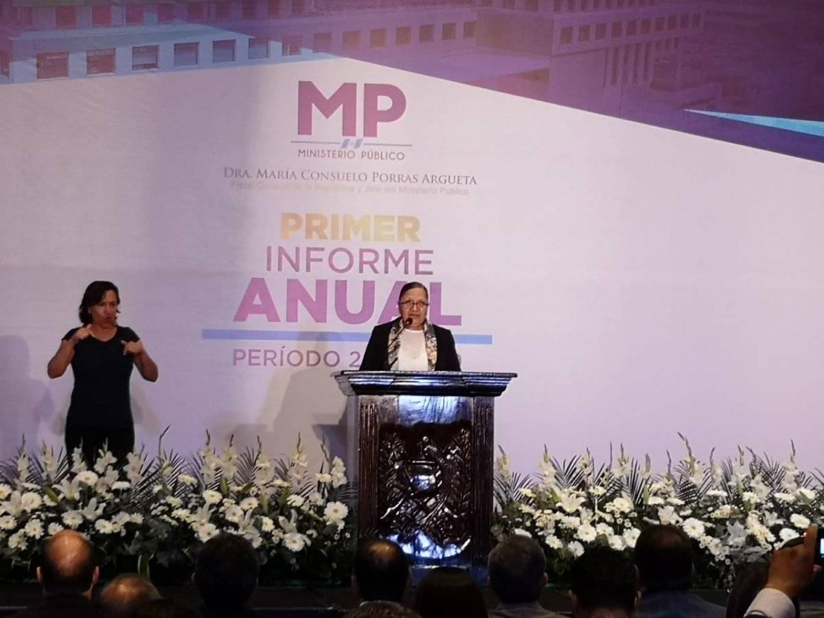 fiscal general Consuelo Porras presenta informe de labores de primer año de gestión