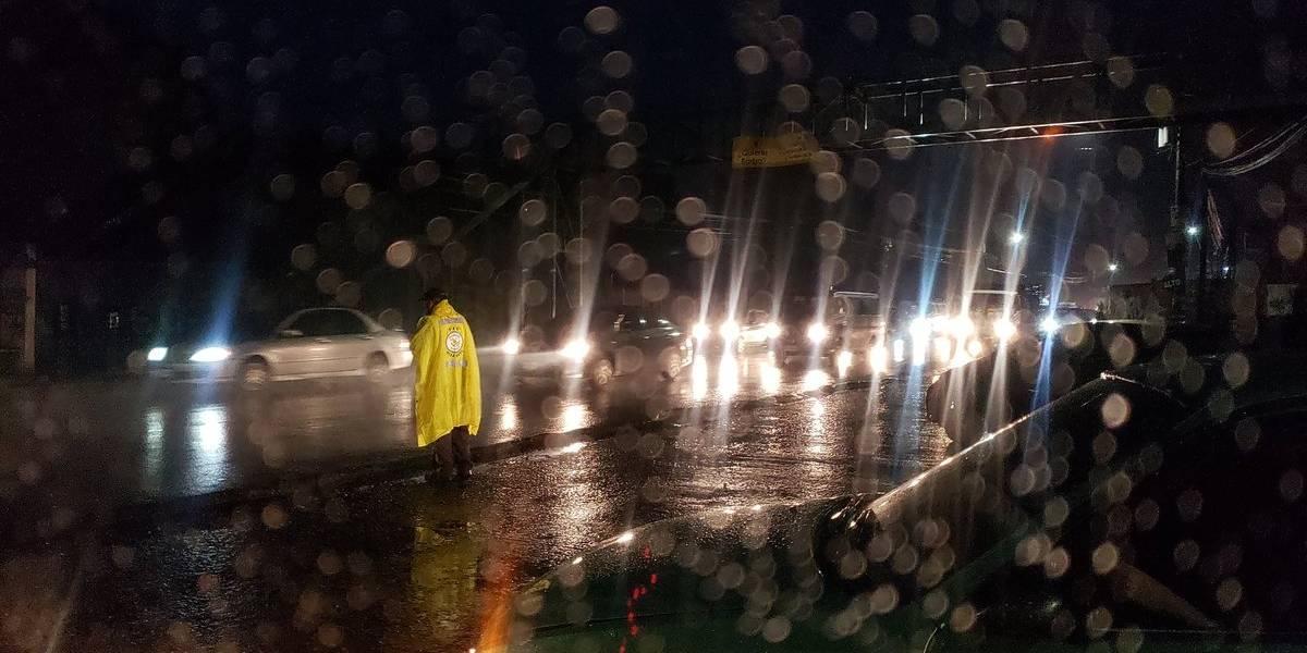Reportan arboles caídos y motoristas que han derrapado debido a la lluvia