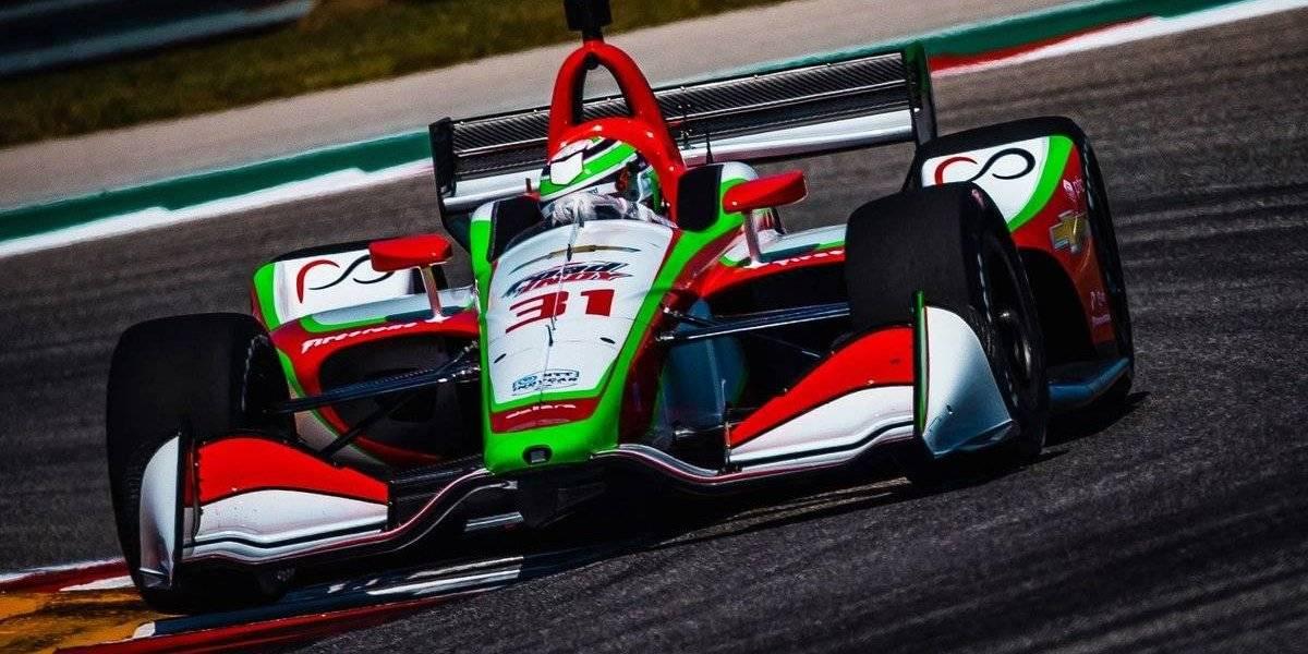 Mexicano Patricio O'Ward sufre accidente en la Indy 500