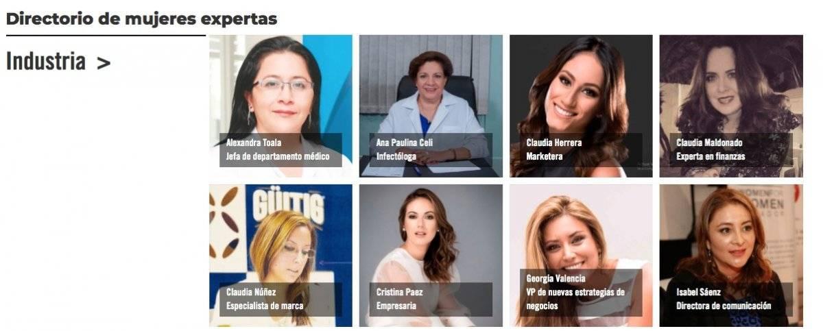 Directorio de mujeres expertas