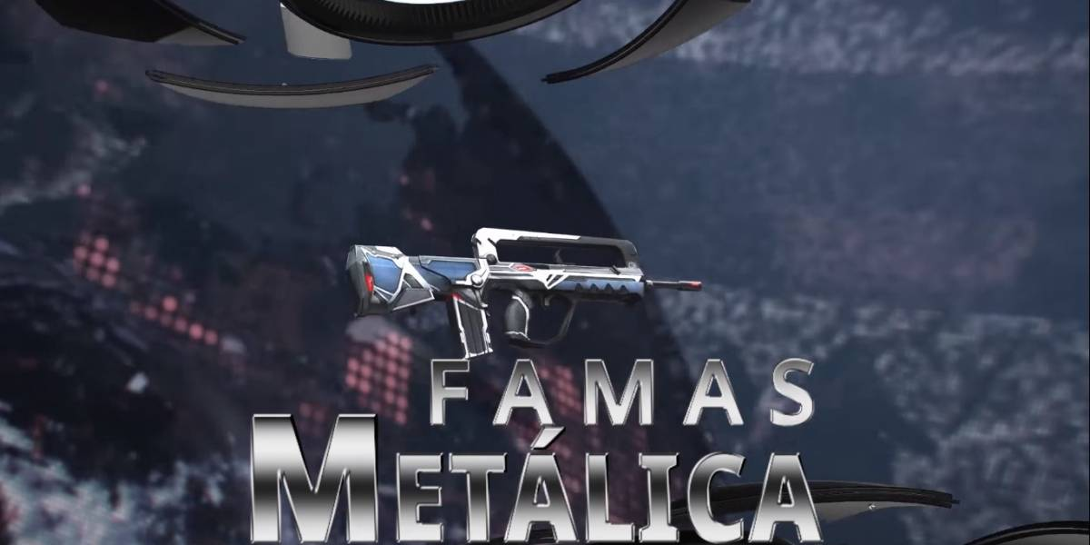 Free Fire: Garena libera 'FAMAS – Metálica' no game Battle Royale