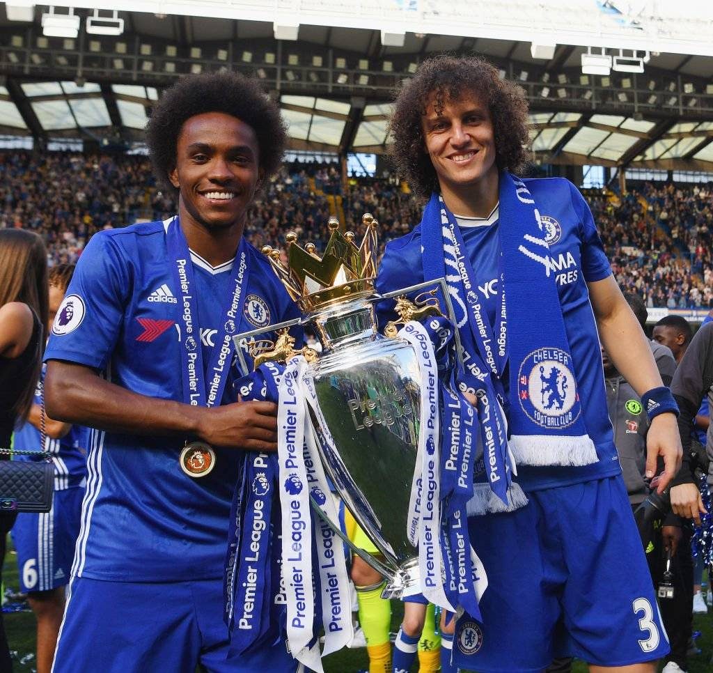 Willian y David Luiz