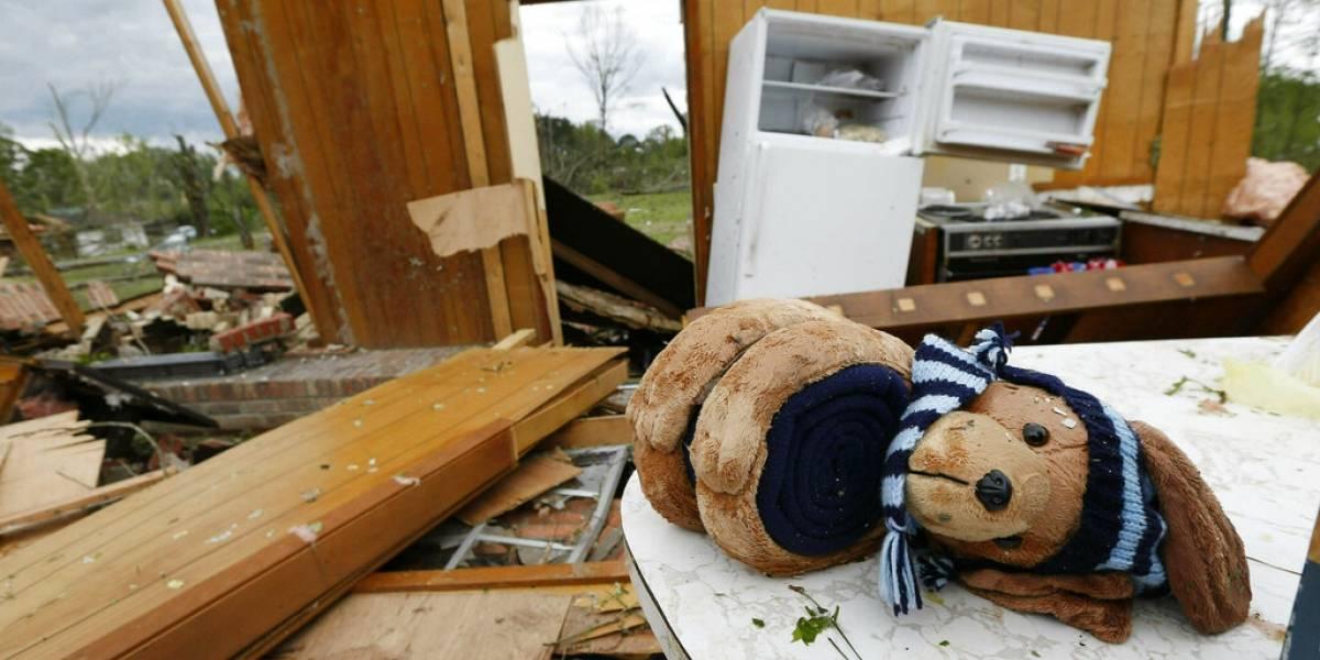 Tornados dejan daños en la zona sur de EU
