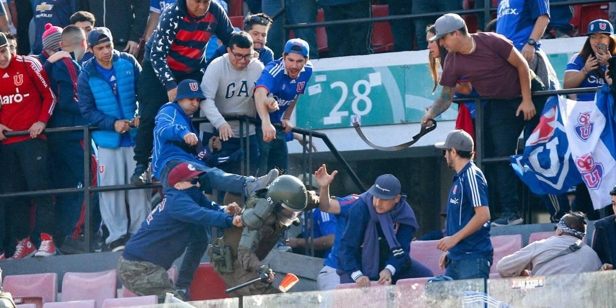 La U arriesga más castigos por desórdenes e incidentes en el Superclásico contra Colo Colo