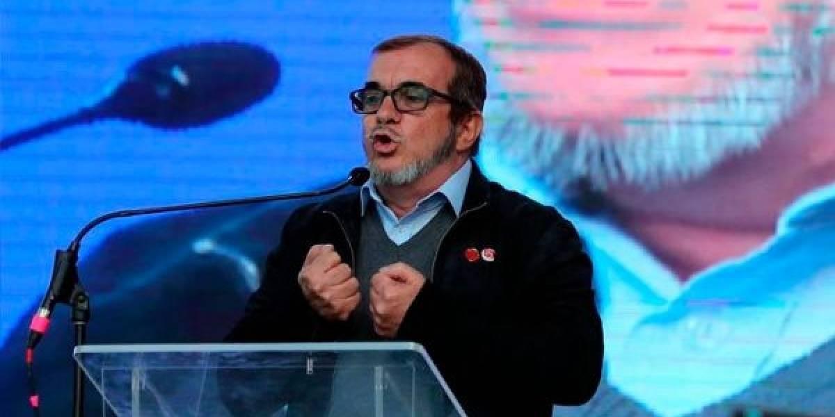 """Timochenko pidió a FARC """"defender proceso de paz"""" pese a recaptura de Santrich"""