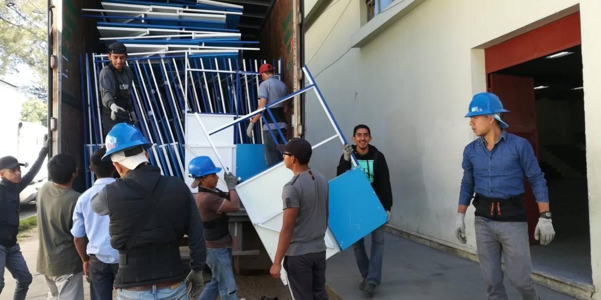 Mobiliario electoral llega primero a Huehuetenango y Sacatepéquez