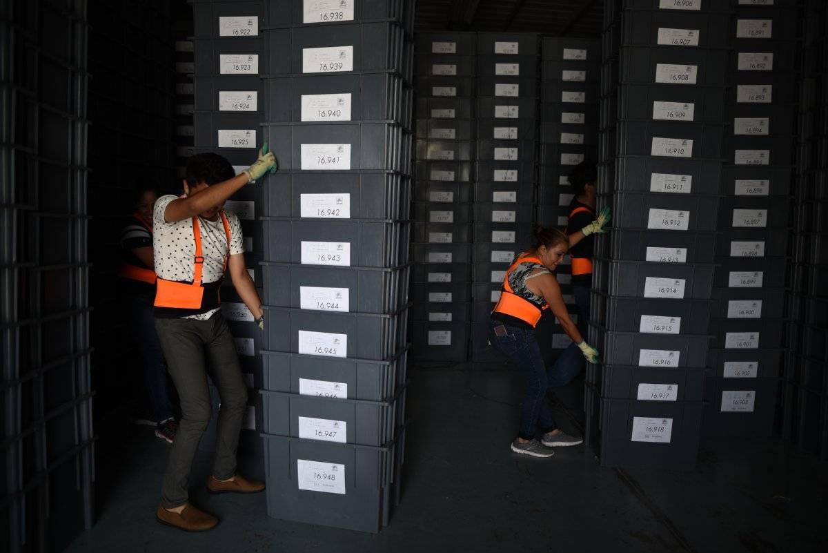 Cajas para material electoral
